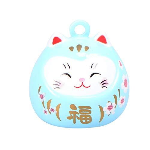 EXCEART 1 Pieza Colgante Gato de La Suerte Colgante de Campanas de La Fortuna de Gato de Dibujos Animados Colgante Mini Gato de La Suerte Campanas de Viento Campanas de Viento de Gato de