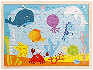 Kids toy 60 pieces wooden Puzzle  cartoon Puzzles wood Jigsaw baby child early educational toys