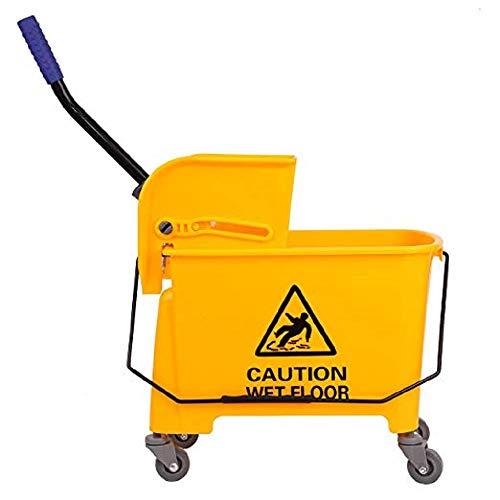Ridgeyard 21Quart(5.28 Gallon) Side Press Mop Bucket with Wringer 4...