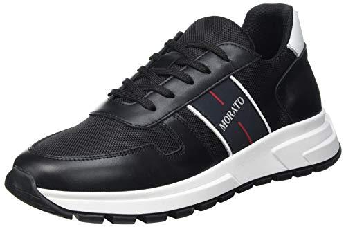 Antony Morato Sneaker Run Slide in Nylon E Pelle, Scarpe con Lacci Uomo, Nero, 43 EU