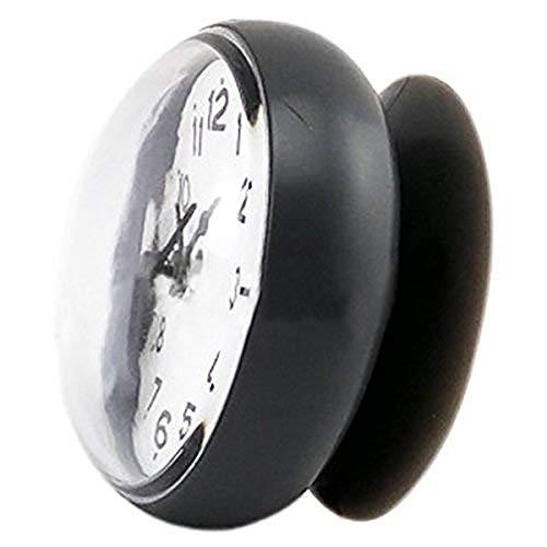 PULABO billig7 cm wasserdichte Küche Bad Dusche Uhr Saugnapf Saugnapf Wand Nicht tickt Schlafzimmer Uhr Schwarz Praktisch und Beliebt