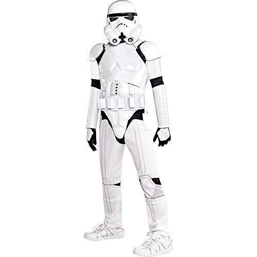 Costumes USA Star Wars Stormtrooper Costume Deluxe for Boys, Small (4-6), Includes Mask, Chest Piece and More