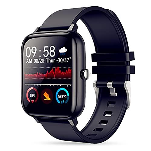 Reloj inteligente para hombre y mujer, con Bluetooth, con monitor de ritmo cardíaco y sueño, para Android e iO-S, resistente al agua