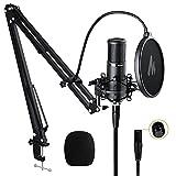 XLR Condenser Microphone Kit MAONO Professional Cardioid Condenser Studio Recording Mic for...