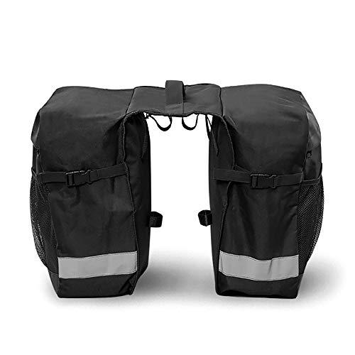 CXQWAN Double Sac Sacoches, Siège arrière étanche Selle Accessoires vélo vélo Sacoche Trunk Femmes Hommes Sac Sacoches