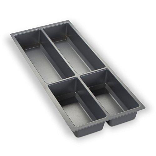 Orga-Box Besteckeinsatz Silbergrau für 30er Schublade z.B. Nobilia ab 2013 (473,5 x 194 mm) Besteckkasten III