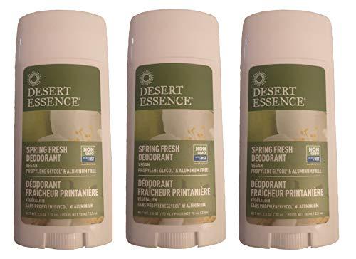 Desert Essence - Déodorant Fraîcheur Printanière - 70 mL - Lot de 3