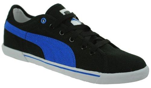 Puma Benecio Canvas Unisex Sport Lifestyle Sneaker Schwarz/Blau Gr. 42