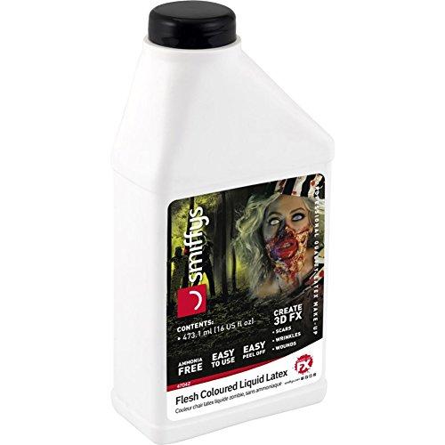Smiffys-47042 Látex líquido look zombi, bajo en amoniaco, Piel, 473,17ml 16 US fl.oz, color carne, No es applicable (Smiffy s 47042) , color modelo surtido
