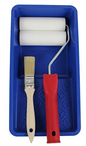 Mini Rodillo Pintura de Espuma + Cubeta + Pincel
