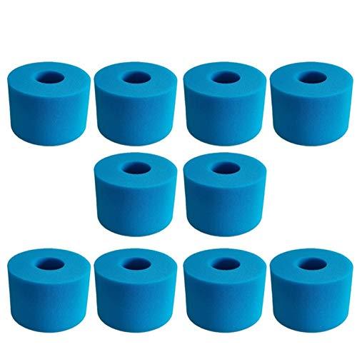 L-Yune, Für Intex Pure SPA Wiederverwendbare waschbare Schaumstoff-Whirlpool-Filterkassette S1-Typ (Farbe : 10 PCS)