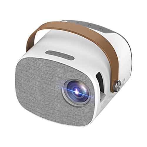 Gazaar Mini proyector de vídeo portátil (2021 actualizado) 1080P Full HD compatible, 100 pantallas, 30000 horas Proyector de hogar para regalos infantiles, proyector de vídeo para cine en casa