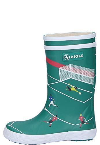 Aigle Lolly POP Theme Football Bottes en caoutchouc pour enfant - Vert - vert olive, 25 EU