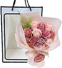 ソープフラワーブーケ NEW11カラーソープブーケ (パスピンク)袋付 花束 母の日 父の日 敬老の日 クリスマス 誕生日 記念日 お祝い プレゼント ギフト お見舞い 還暦 退職 女性 贈り物