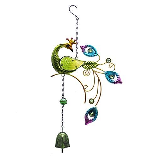 Bodhi2000 Carillon à vent coloré avec cloche à suspendre pour jardin, balcon, terrasse, décoration intérieure