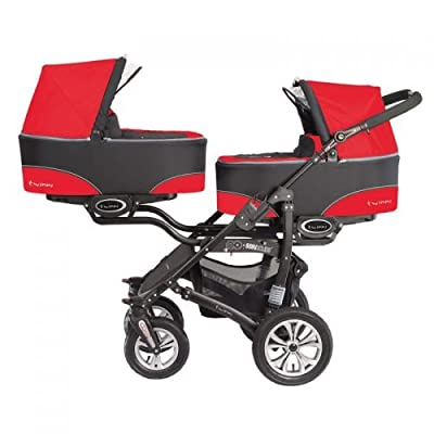"'Baby Active ""twinni Zwilling cochecito Carrito Zwilling Buggy rojo Nr.03 Mexicanred"