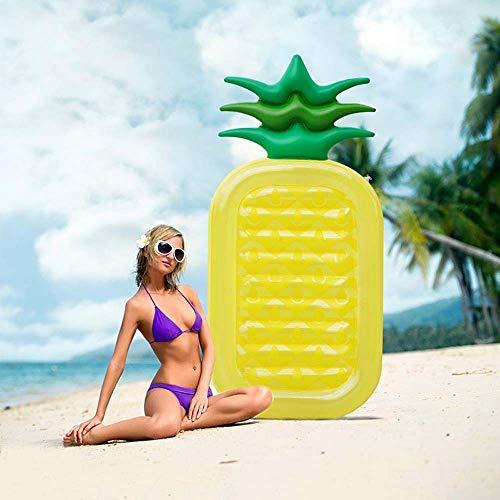 RongDuosi Water Opblaasbare Ananas Drijvende Drainage Op De Hangmat Ligbank Zwemmen Ring Ananas Float 190 * 90cm/1.3KG Drijvend Bed Zwembed