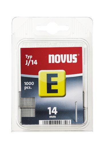 Novus Nägel 14 mm,  1000 Stück vom Typ J/14 , optimales Heftmittel zur Befestigung von Zierleisten und Eckleisten