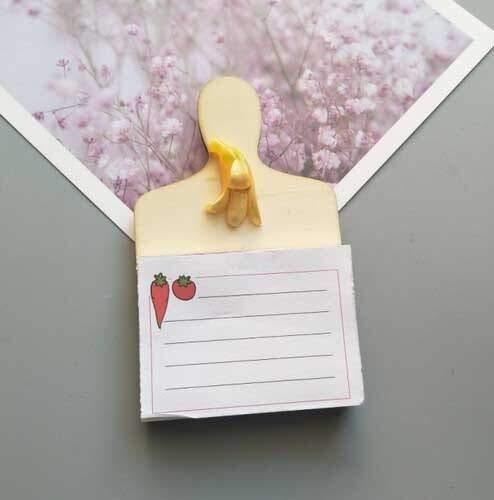 XINTIAN Imán para nevera, calendario con texto en inglés 'Leave A Message', pizarra blanca y pizarra magnética (color: plátano)