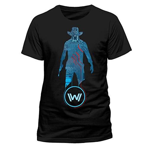 I-D-C Westworld T-Shirt Blue Man Size XL shirts