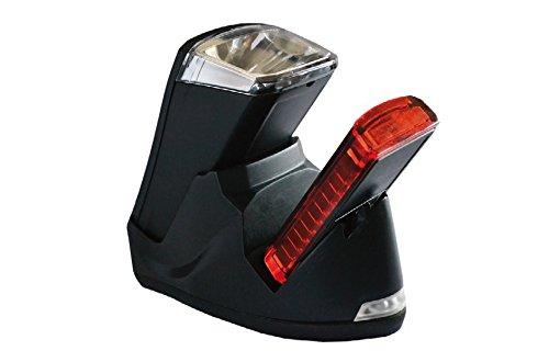 Büchel LED Akkuleuchtenset Leuchtturm Pro, mit Ladestation, silber/schwarz, 51125700