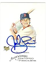 Jed Lowrie autographed baseball card (Boston Red Sox) 2008 Topps Allen and Ginters No.308 Rookie Card
