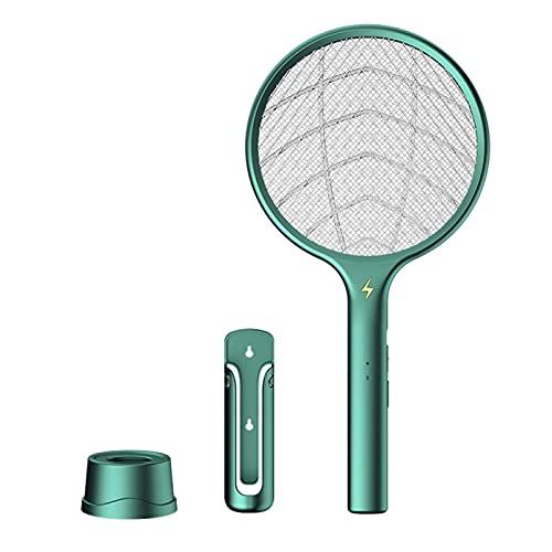 Potenciado eléctrico Mosquito Swatter con lámpara UV 1200 mAh recargable Bug Zapper verano mosca asesino trampa insecto raqueta