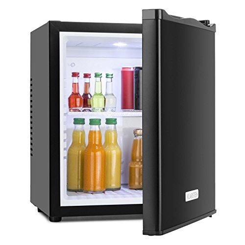 KLARSTEIN MKS-10 - Mini frigo Bar, G, 19 L, Silenzioso, Basso consumo, Silenzioso, 0 Db, ca. 38 x 47 x 38 cm, 1 ripiano, Temperatura Regolabile 3 Livelli, Nero Opaco, Nero