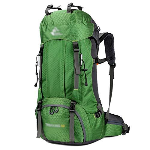 GELing 60L Sac a Dos Voyage Trekking Randonnée Camping pour Homme Femme,Vert 2,74X32X20cm