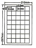LDW40U-5 OAラベル ナナワード (34.4×33.9mm 40面付け A4判) 5梱(レーザー、インクジェットプリンタ用。上質紙ラベル)マルチタイプ