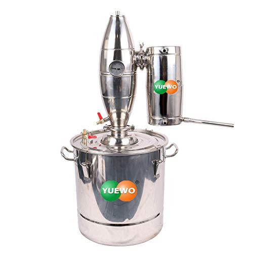 CASA 18~65 L Litro Nuevo Alambique Destilador Acero Inoxidable Destilación Enfriador Caldera...