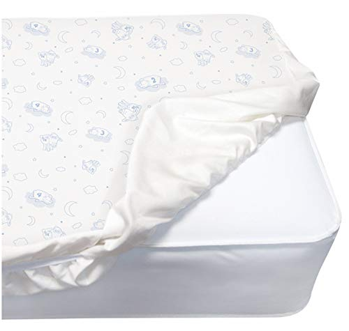 Serta PerfectSleeper Deluxe Crib Mattress Pad - 2 Pack – 100% Waterproof, Quilted Top, Fitted Protective Crib Mattress Pad, White -  AmazonUs/DEMQX, 02233P-NO