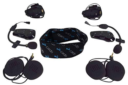 Cardo Scala Rider FREECOM JBL Audio Bluetooth Motorcycle Helmet Communication Headset with Cardo Logo Neck Gaiter (FREECOM 4+ DUO)