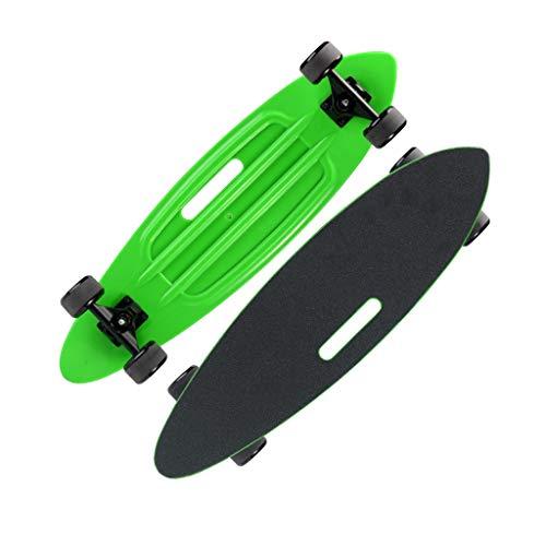 OFFA Skateboard Kinder Komplett Retro Kunststoff Skateboard Mit Leucht-Räder, Cruiser Skateboard 24 Zoll Mit Sturdy Skateboards for Anfänger Teens Erwachsene Jungen Mädchen (Color : H)