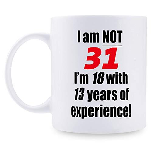 Regalos de cumpleaños para mujer, regalo de cumpleaños de 1988 para mujeres, regalo de 31 años de edad, taza de café para mamá, esposa, amiga, hermana, ella, colega, compañero de trabajo – 11 oz