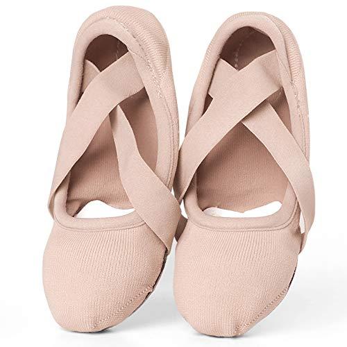 YMG Zapatos de Baile de Ballet Elásticos para Niñas, Zapatillas de Suela Blanda Dividida, Zapatos de Ballet Elásticos Profesionales,37