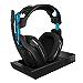 ASTRO Gaming A50 - Auriculares con micrófono inalámbricos y Estación base, Tercera generación con sonido envolvente Dolby 7.1, compatibles con PlayStation 4/PC/Mac, Negro/Azul (Reacondicionado)