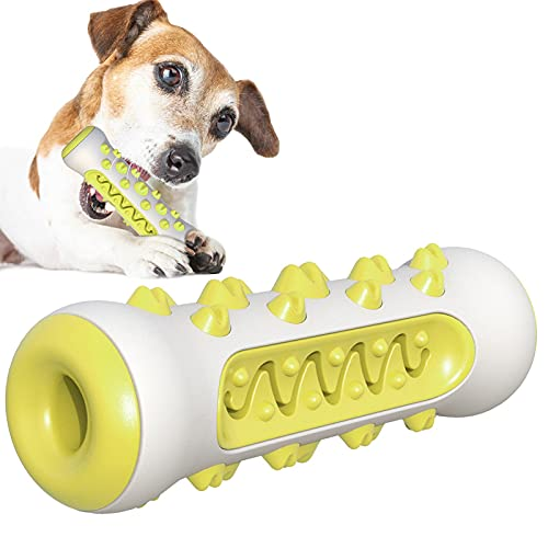 MOMAMOM Juguetes para Perros Morder Cuidado Oral Mascotas Palo Masticar Dental Dog Brushing Stick Cepillos de Dientes Indestructible Juguete Perro Yellow