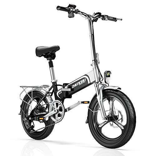 Folding Electric Bike for Adult, 20'' Electric Commuter Bicycle with 48V 10AH Removable Lithium-Ion Battery, Shimano 7 Speed Gear and 400W Motor.