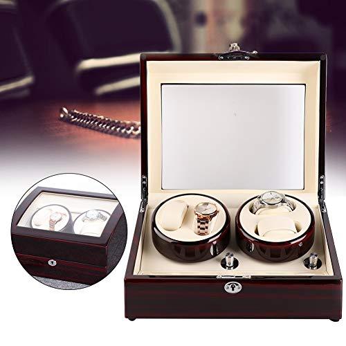 Watch Winder Box, Motor Shaker Watch Winder Holder Display 4 Posiciones de...