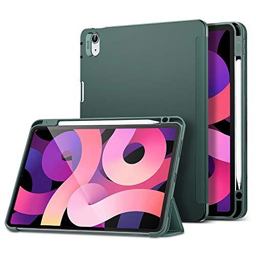 YYLKKB Case for iPad Air 4 10.9 iPad 8 Gen 10.2 Case Pencil Holder Enclosure Smart Case Flexible Back Cover for iPad Air 2020 Case-Green_iPad 7th 2019