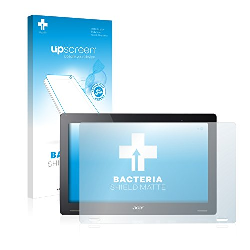 upscreen Antibakterielle Entspiegelungs-Schutzfolie kompatibel mit Acer Aspire Switch 12 S - Anti-Reflex Bildschirmschutzfolie matt, Anti-Fingerprint