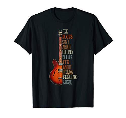 Blues Musik Gitarre lustiges Geschenk für Gitarrist T-Shirt