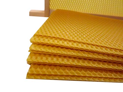 20 x Unwired Super Foundation – 20 hojas – para British National Supers – 100% cera de abejas