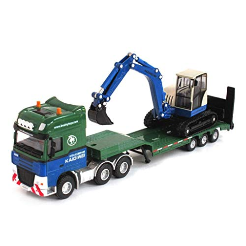 Speelgoed auto Children's Toy KDW Techniek Auto Model 01:50 Alloy Plaat En Graafmachine voertuig Oplegger Toy Gift Collection WKY