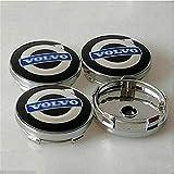 DGDD 4 Pcs Tapas Centrales para Llantas para Volvo S40 S60L S80L XC60 XC90, Coche Tapas Centrales Llanta Rueda con Logo Decoración Accesorios
