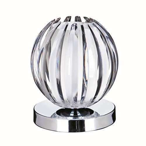 Moderne Tischleuchte mit Touchdimmer, gefrostetes Acrylglas, G9 max. 33W Höhe 14cm Dekoleuchte Tischlampe Nachttischlampe