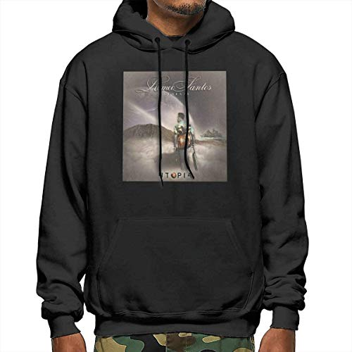 Utopia Romeo Santos Men's New Hoodie with Hat Fashion Sweater Casual Winter Autumn Black,Black,XX-L
