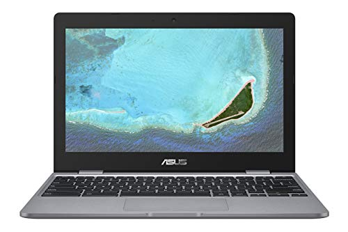 ASUS Chromebook C223NA-GJ0067, Notebook con Monitor 11.6' HD Anti-Glare, Intel Celeron N3350, RAM 4GB LPDDR4, 32G eMMC, Sistema operativo Chrome, Grigio