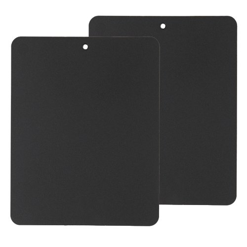 Linden Sweden Flexible Cutting Board 2-Pack - Lays Flat for Secure Work Surface - Extra-Thick for Durability - BPA-Free and Food-Safe Black